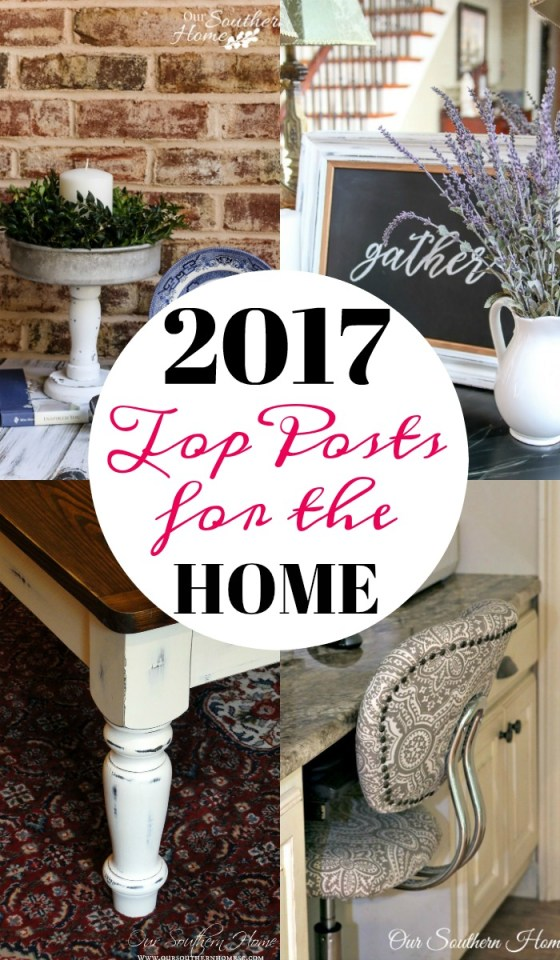 Top posts for the home from 2017! Everything from thrift store makeovers to recipes and a knitting project! #topprojects #furnituremakeovers #painting #thriftstoremakeovers