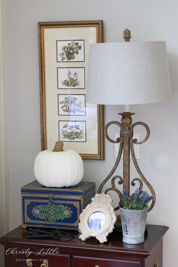 lamp and pumpkin