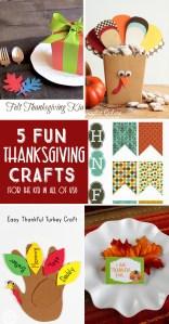 5 Thanksgiving Crafts