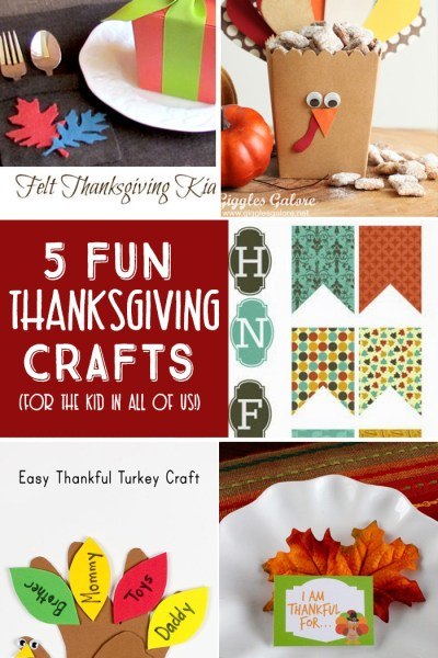 5 Thanksgiving Crafts are the features this week from Inspiration Monday!