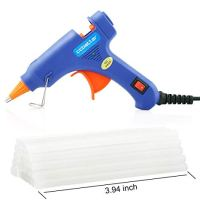 ccbetter Upgraded Mini Hot Melt Glue Gun with 30pcs Glue Sticks,Removable Anti-hot Cover Glue Gun Kit with Flexible Trigger for DIY Small Craft Projects & Sealing and Quick Daily Repairs 20-watt,Blue