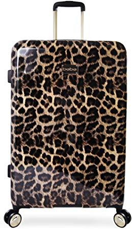"BEBE Women's Luggage Adriana 29"" Hardside Check in Spinner, Leopard"