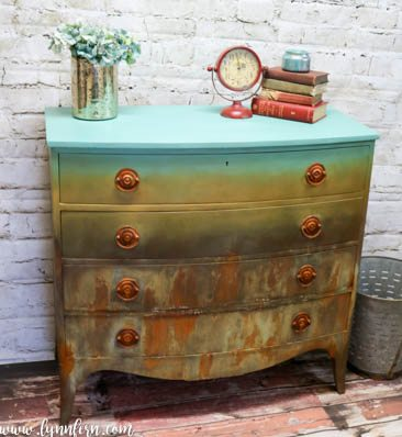 Blended Dresser using CeCe Caldwell Paint and Modern Masters Metal Effects-19