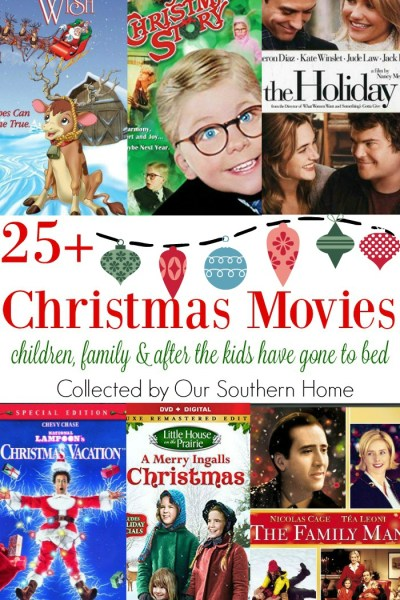 A collection of over 25 Christmas movies compiled by Our Southern Home. Perfect for children, family and after the kids have gone to bed!