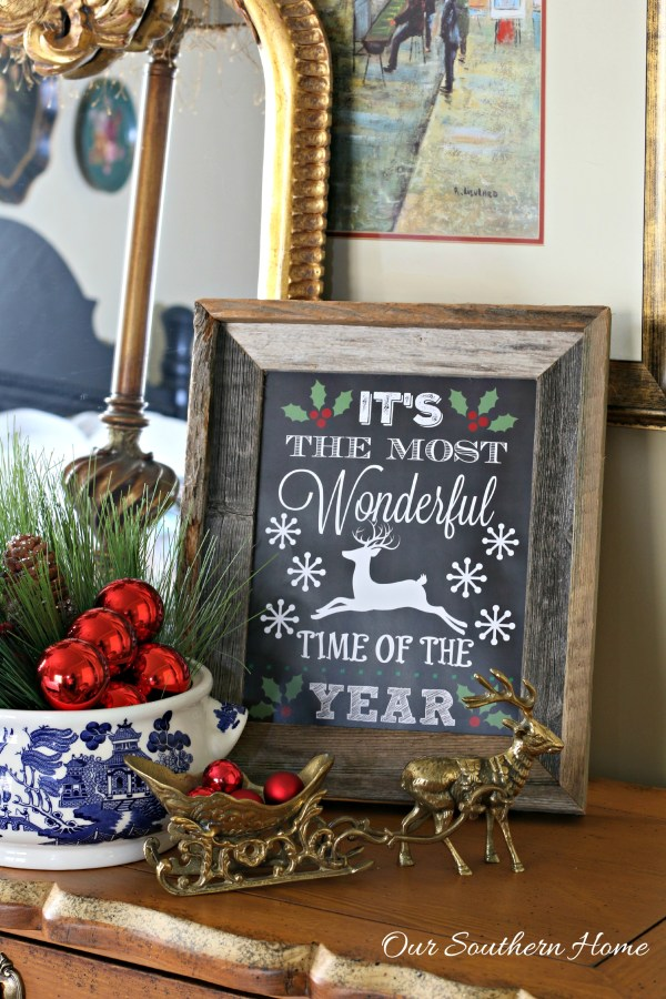 It's the most wonderful time of the year FREE printable perfect for gift giving by Our Southern Home