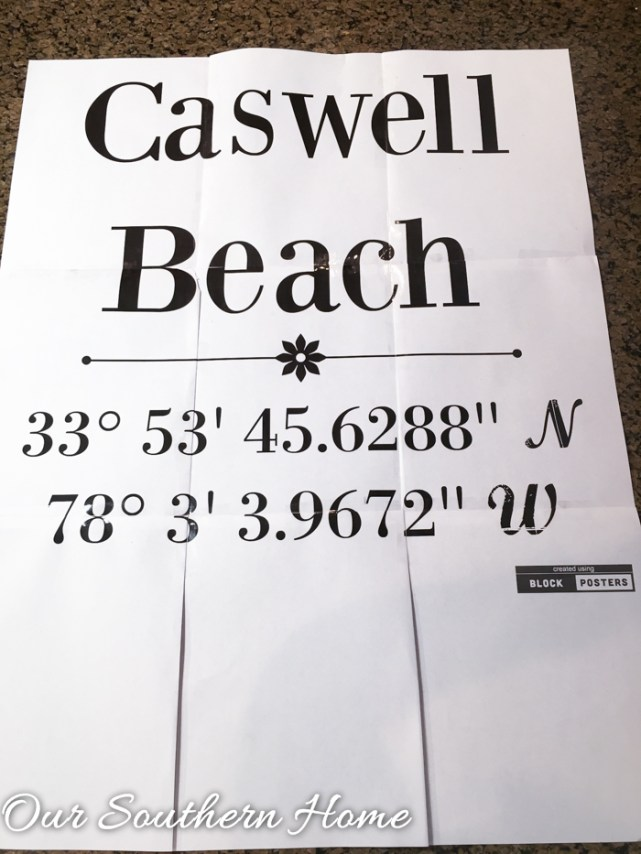 DIY Latitude and Logitude Sign for your favorite places on Earth by Our Southern Home #DIYDign #greatsouthernroadtrip