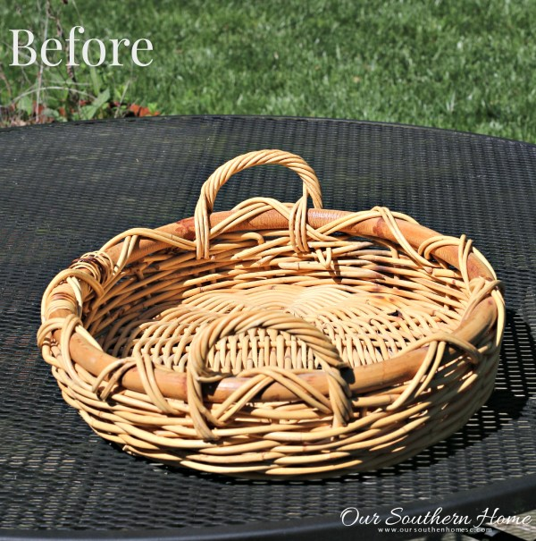 Painting baskets with chalk paint and using them in your home decor by Our Southern Home