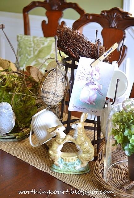 Elements of an Easter centerpiece
