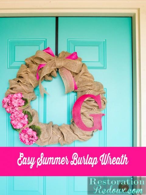 Easy Summer Burlap Wreath