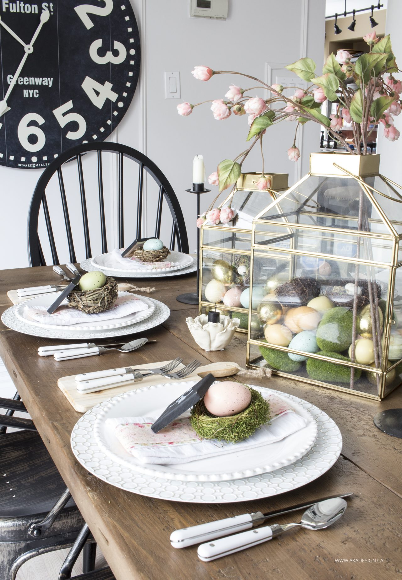 Farmhouse Easter Table Setting By Homemade Lovely