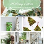 Green and White Holiday Ideas are the features from the weekly link party, Inspiration Monday!