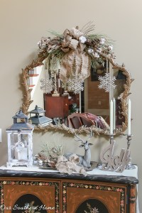 Rustic and Elegant Christmas Entry