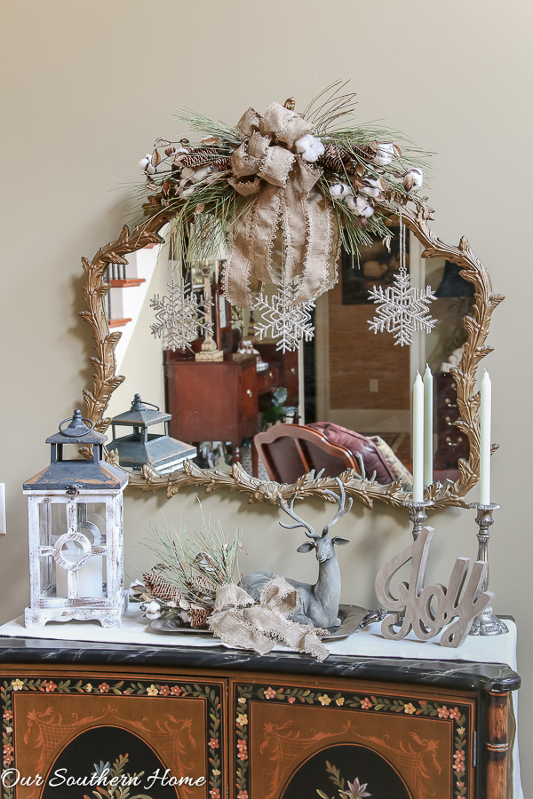 rustic and elegant christmas entry from our southern home - Rustic Elegant Christmas Decor