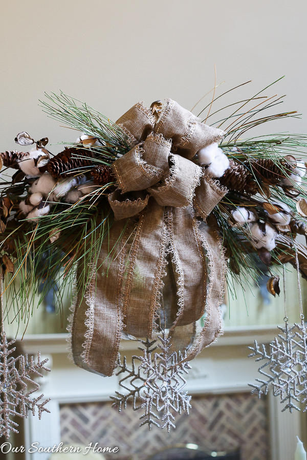 Rustic and Elegant Christmas Entry from Our Southern Home