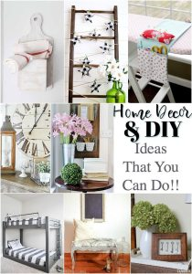 Eight DIY Home Decor Ideas