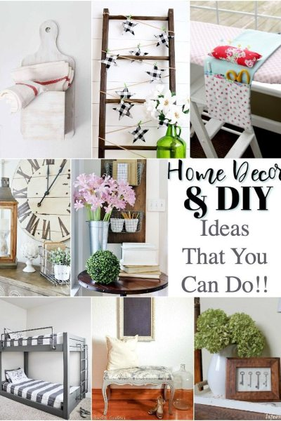 Home decor and DIY ideas that you can do in your home! Fantastic features from Inspiration Monday!