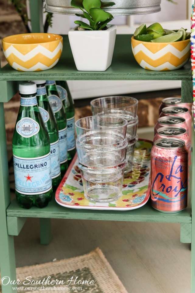 DIY Beverage Stand by Our Southern Home for the #DIHWorkshop at Home Depot #DIY #Sponsored