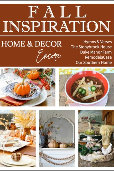 fall decor collage
