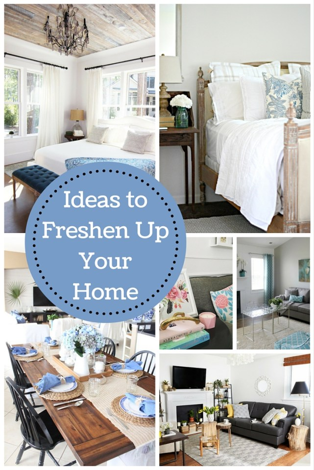 Ideas to Freshen Up Your Home via the features from Inspiration Monday Link Party!