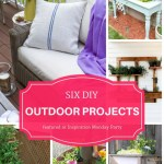 Six outdoor DIY projects are the features from this week's Inspiration Monday link party. #outdoordiy #diy #outdoorliving #planters