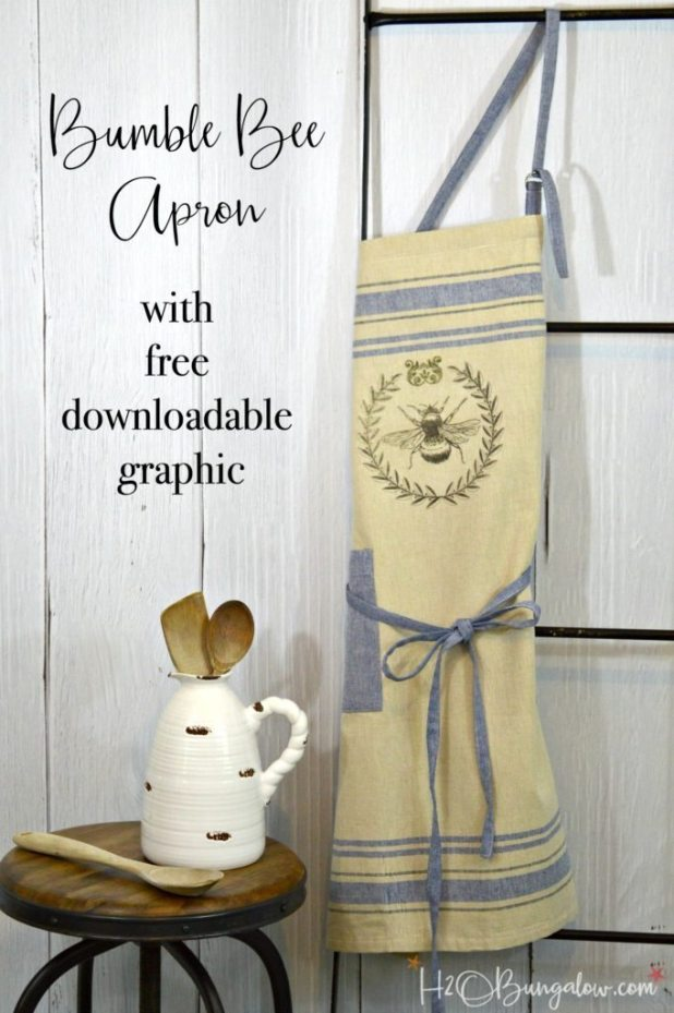 Iron-on-bumble-bee-apron-project-H2OBungalow