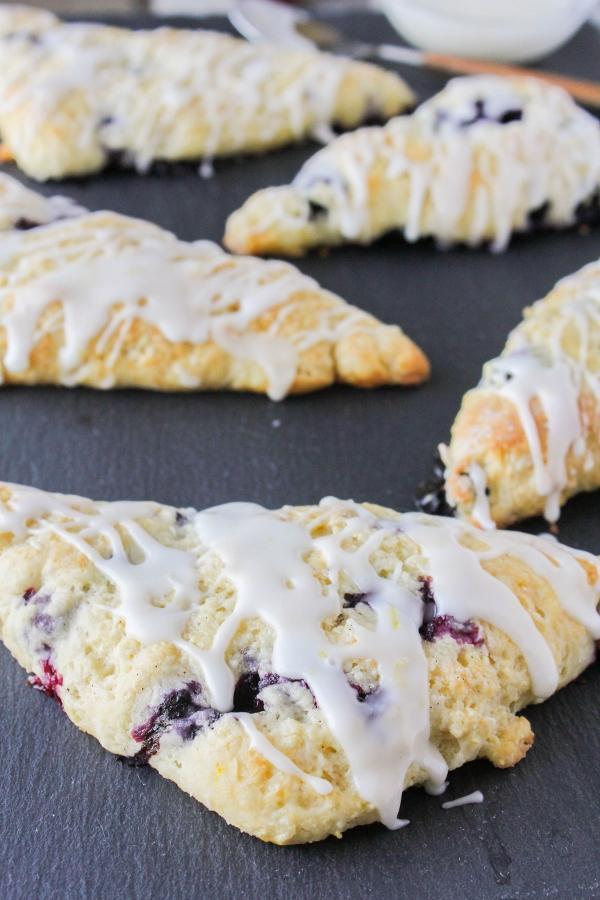 lemon and blueberry scones