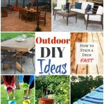 Outdoor DIY Ideas to get your space ready for summertime enjoyment! Join us each week for Inspiration Monday for ideas for your home!
