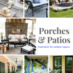 Beautiful patios and porches are the features for Inspiration Monday link party! #outdoorliving #patio #porches