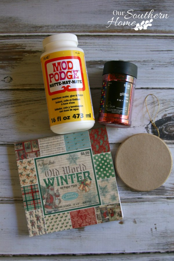 Photo Christmas ornaments are a very simple craft with the aid of Mod Podge by Our Southern Home