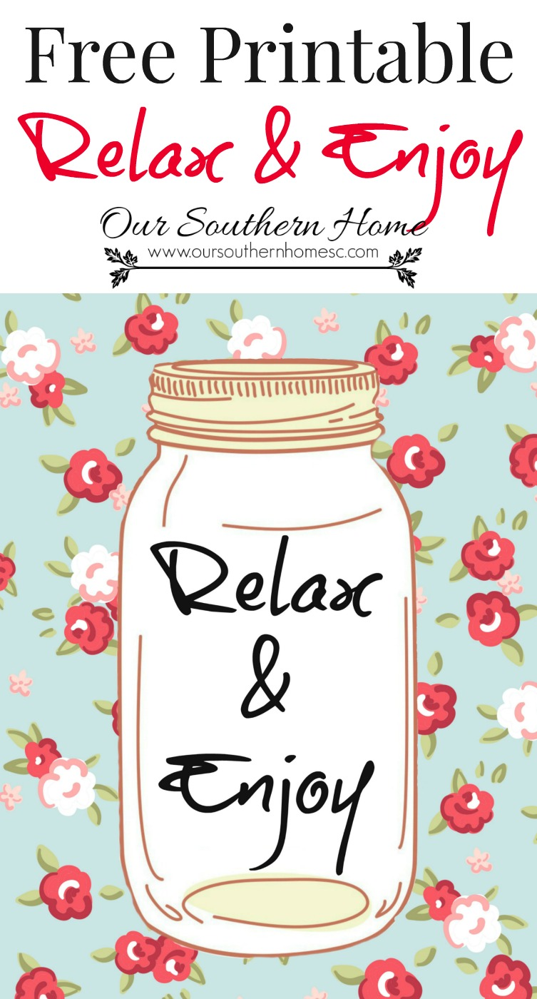 FREE Relax and Enjoy printable by Our Southern Home with images from Graphic Stock . Perfect for summer!