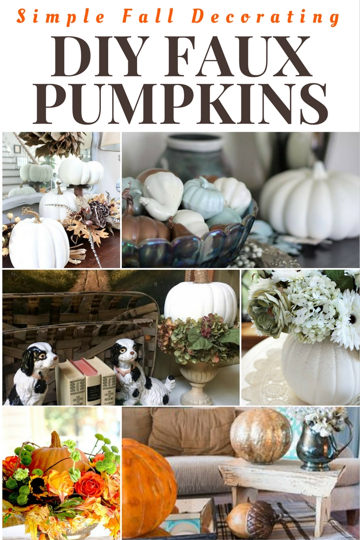 SImple DIY ideas with faux pumpkins
