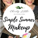 I love how compact these makeup products are for everyday use and travel!! Best makeup I've ever used. Perfect for that simple Summer Makeup! #makeup #over40makeup #travelmakeup #christyLittlestyle