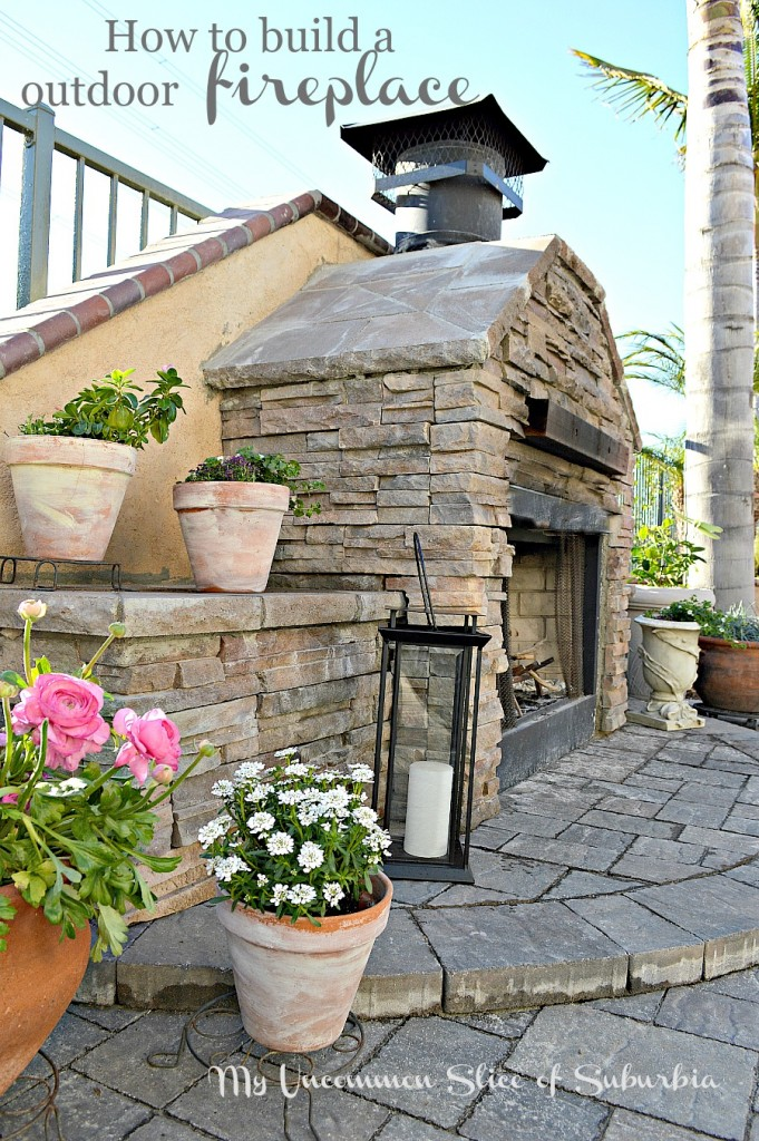 Step by step tutorial on building your own outdoor fireplace
