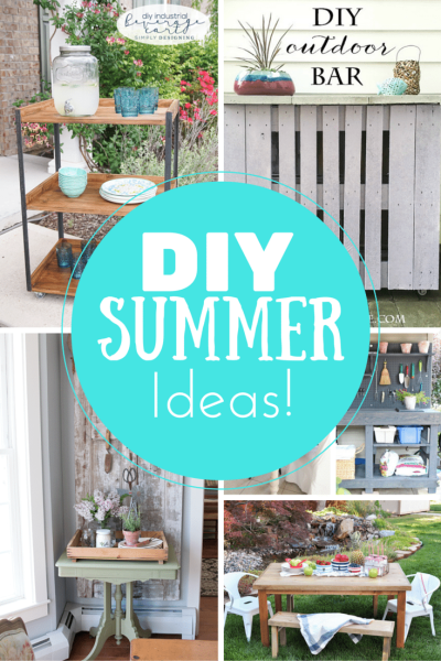 DIY Summer Entertaining Projects via Our Southern Home. Features from Inspiration Monday!