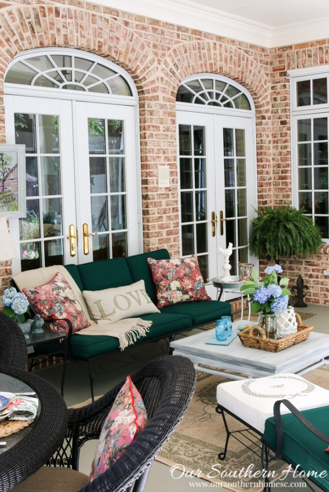 Summer on the Screened Porch - Our Southern Home