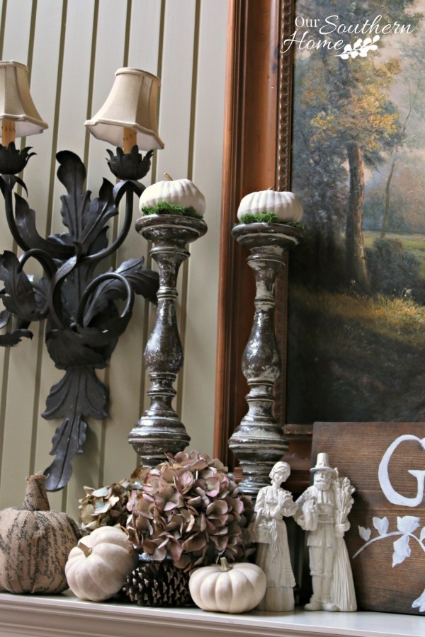Thanksgiving mantel for one space, three ways by Our Southern Home