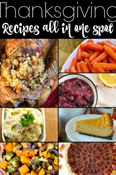 Thanksgiving recipes are the features from Inspiration Monday!