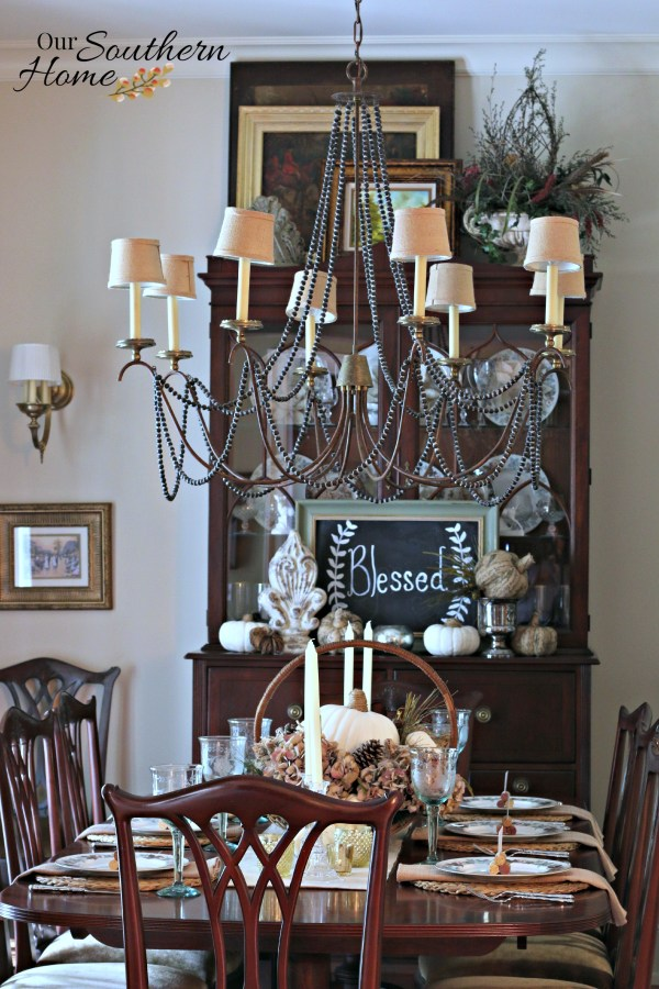 Thanksgiving tablescape for 2015 by our southern home 10