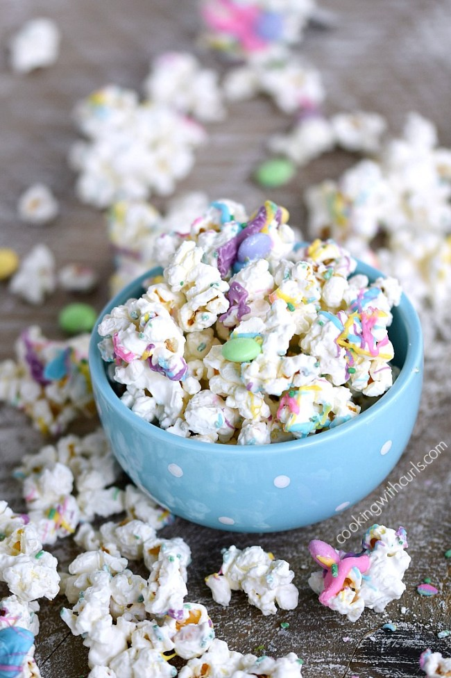 Springtime Chocolate Covered Popcorn