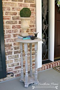 Weathered Rustic Plant Stand