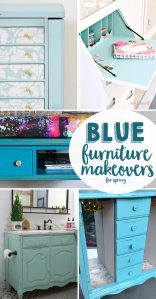 Blue Furniture Makeovers