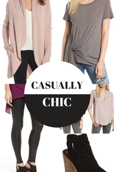 Casually Chic outfits that can work for day or night with accessories!