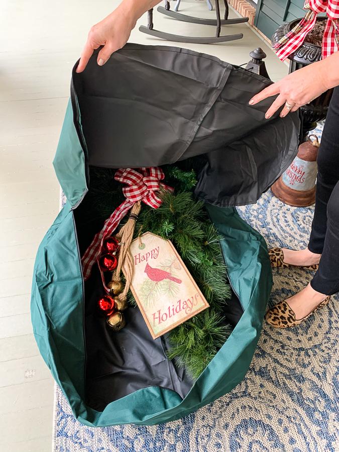 wreath storage bag
