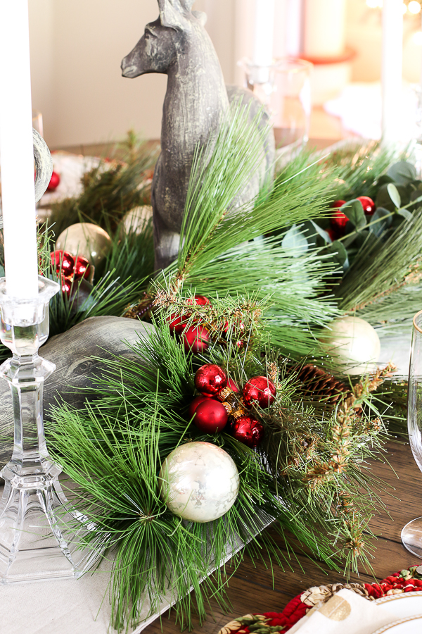 greenery with ornaments