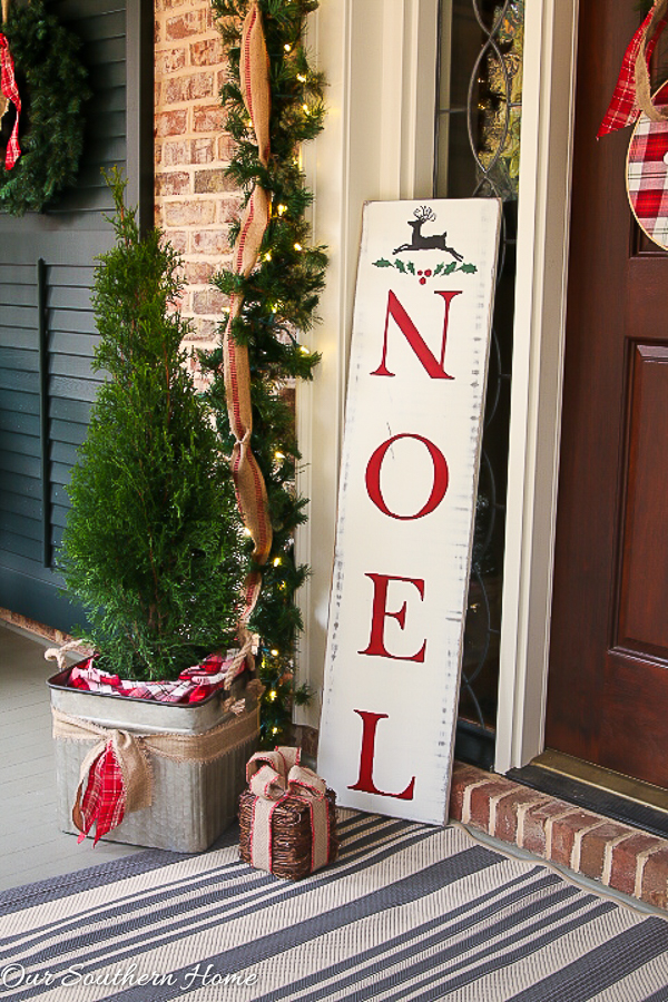 Diy Vintage Look Noel Sign Our Southern Home