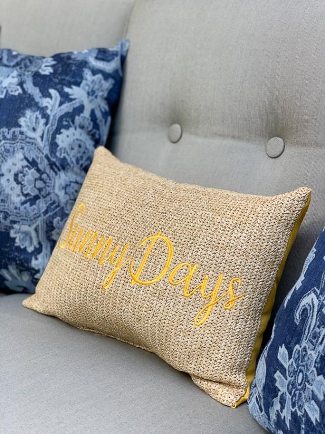 Sunny Days outdoor pillow
