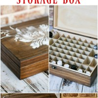 Essential Oils Stenciled Box