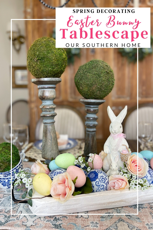 bunny tablescape