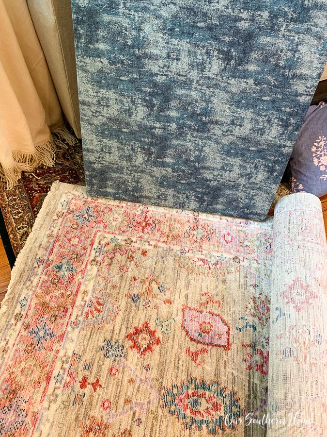 wall art and rug