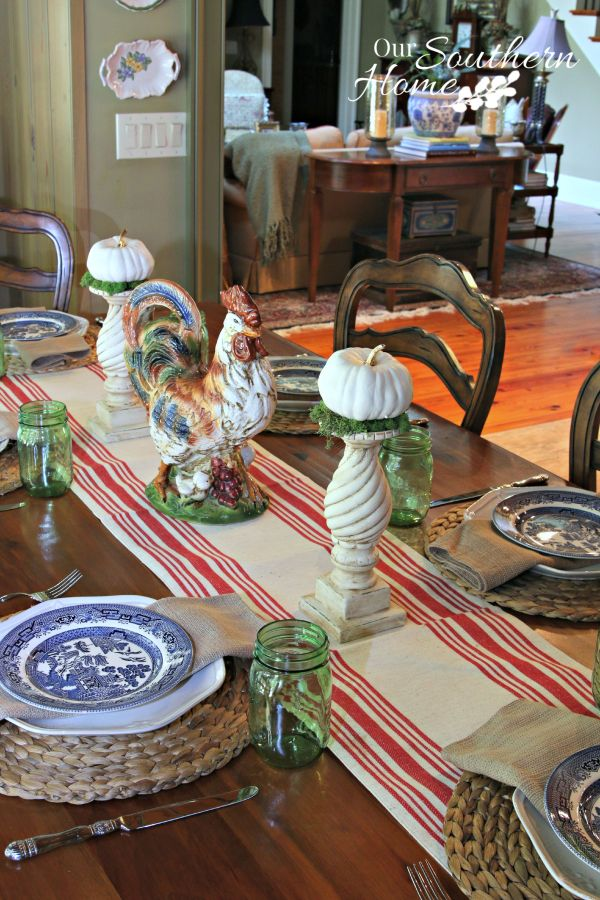 Simple fall tablescape by Our Southern Home